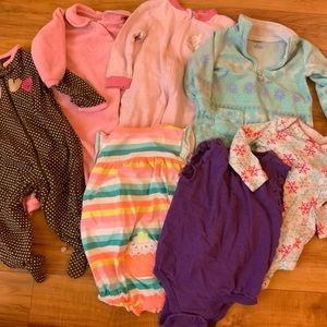 Baby Clothing Pj & Play Lot (7 pieces)